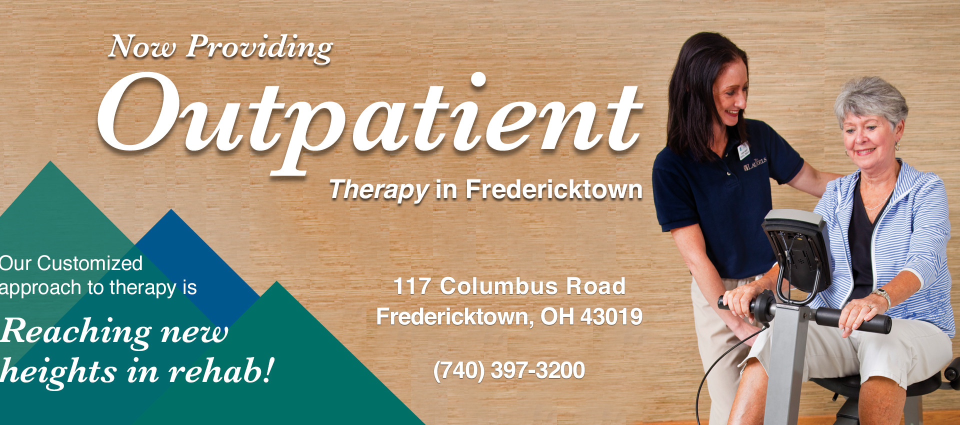 Now Providing Outpatient Therapy in Fredericktown